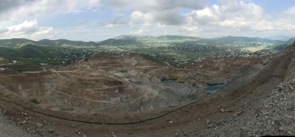 Mining site in Gadabay, Azerbaijan
