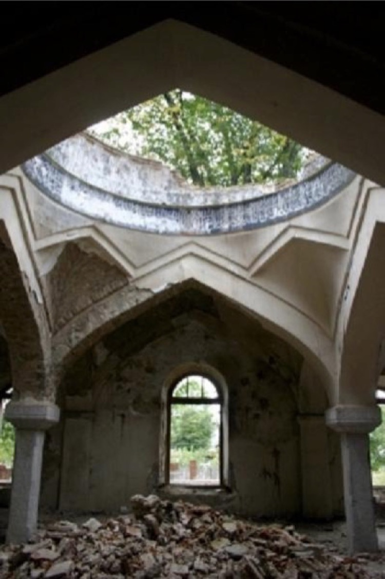 Haji Alakbar Mosqueafter destruction, 1889, Fizuli