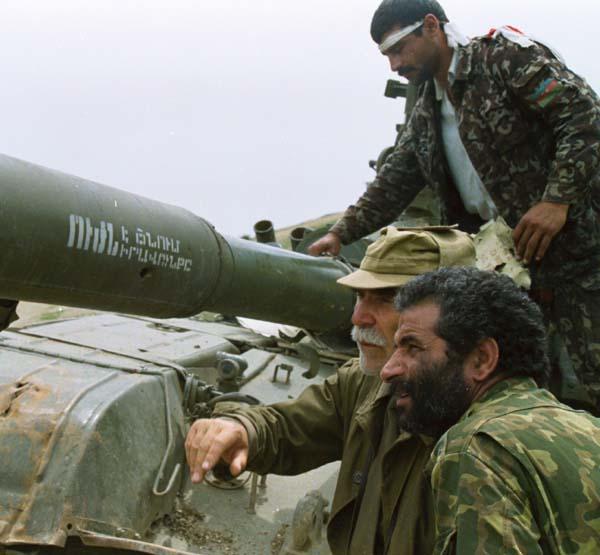 Captured Armenian Tank in Nagorno Karabakh