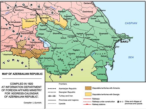 Karabakh as a part of Azerbaijan Democratic Republic 1918-1920
