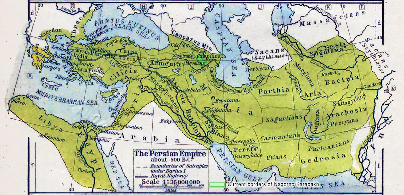 Karabakh within Persian Empire 500BC