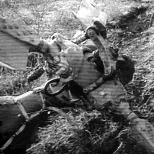 The MI-8 helicopter shot down by Armenian terrorists.