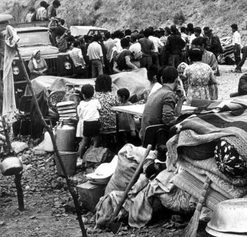 Deportation of Azerbaijanis as a result of ethnic cleansing policy carried out by official Armenian government