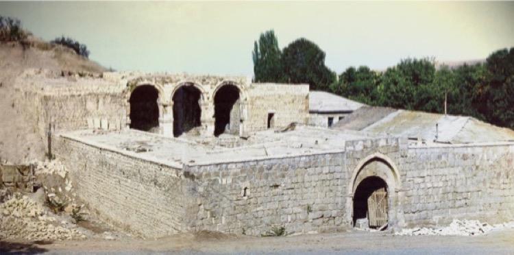 Garghabazar caravanserai, Fuzuli, Azerbaijan, 1681