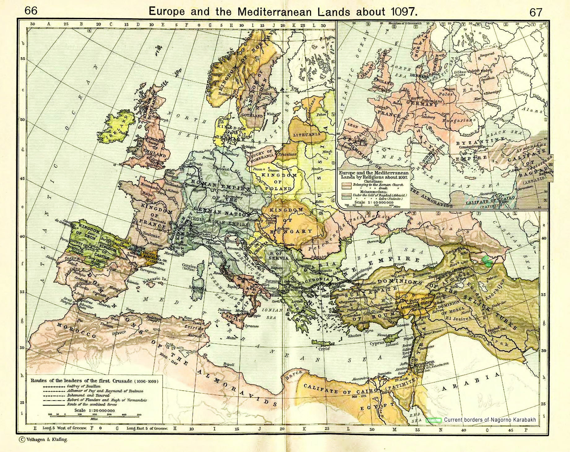 Karabakh under dominion of two Turkic states: Seljuks and Khazars. XI c