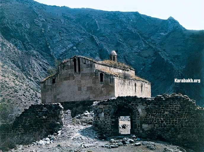 The Agoglan Alban monastery (Lachin District)