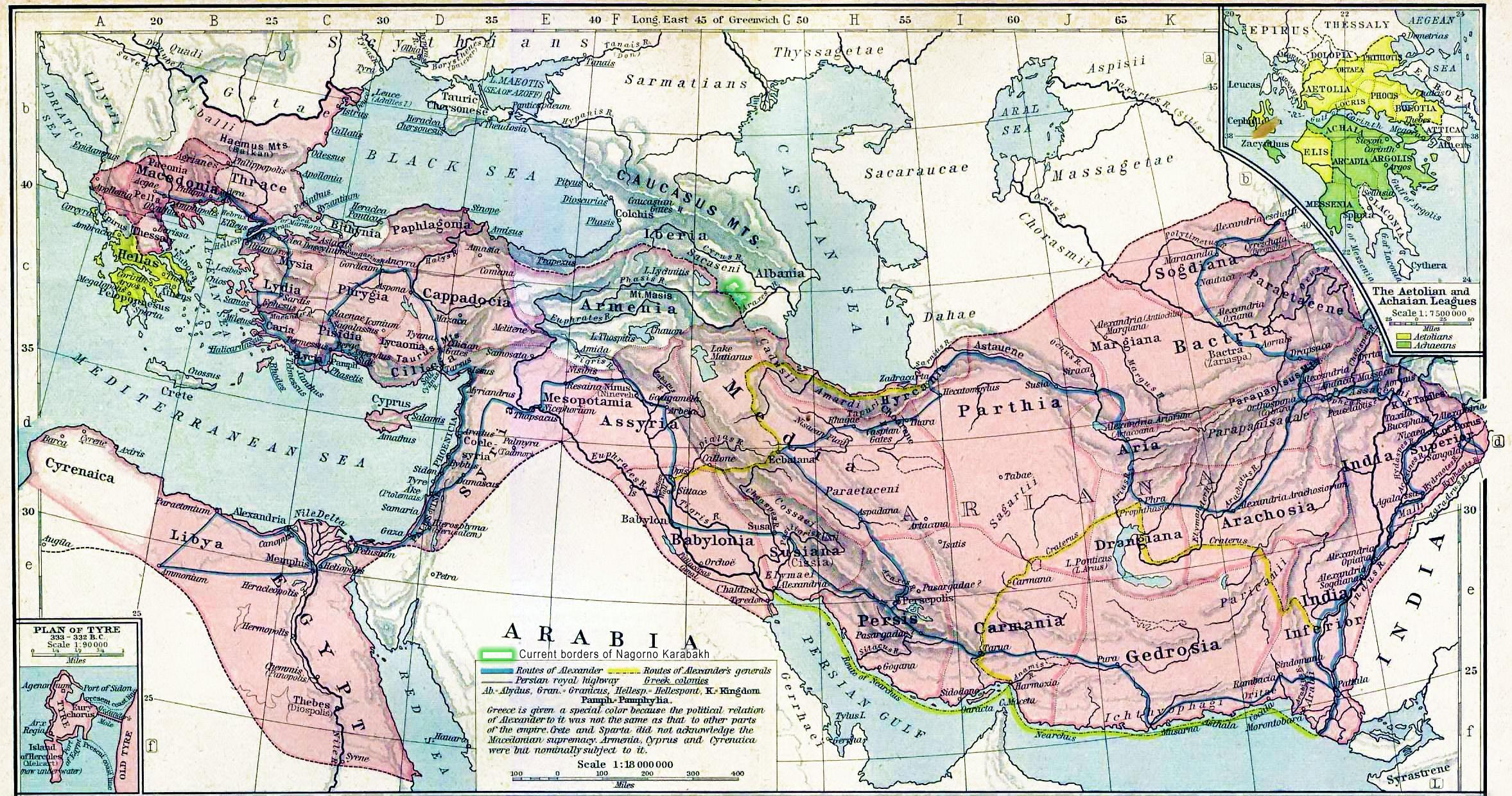 Karabakh as a part of Caucasian Albania